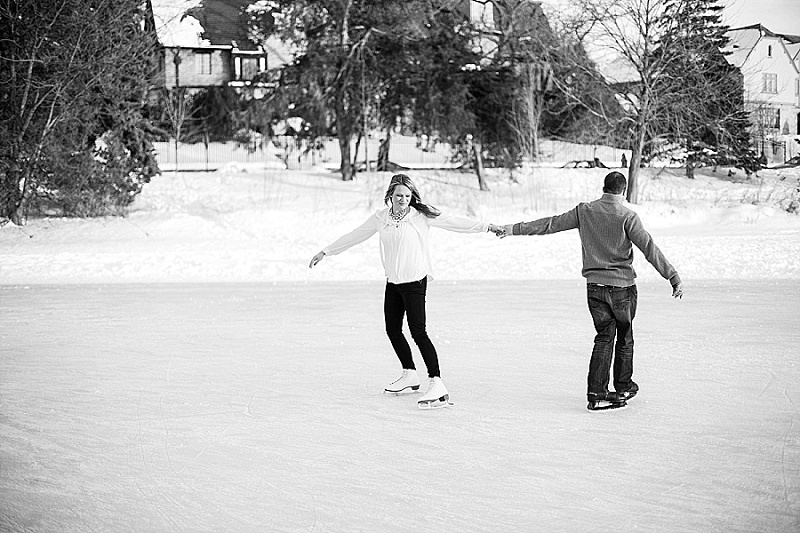 Winter engagement session, Rochelle Louise Photography, Minneapolis wedding photographer, Lake of the Isles engagement session, ice skating engagement session