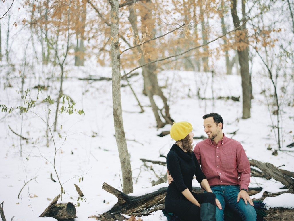 Rochelle Louise Photography, film photography, Contax 645, winter engagement session