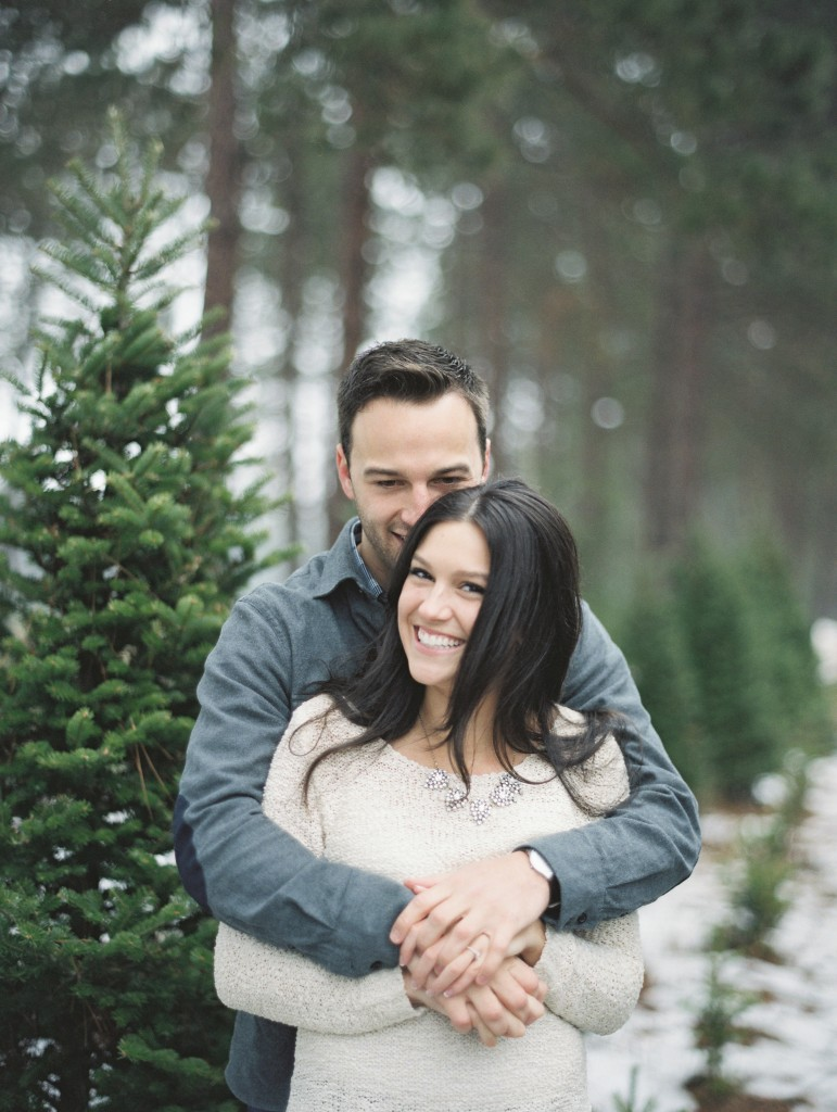 Rochelle Louise Photography, fine art wedding photography, winter engagement session, Contax 645, Minneapolis wedding photographer