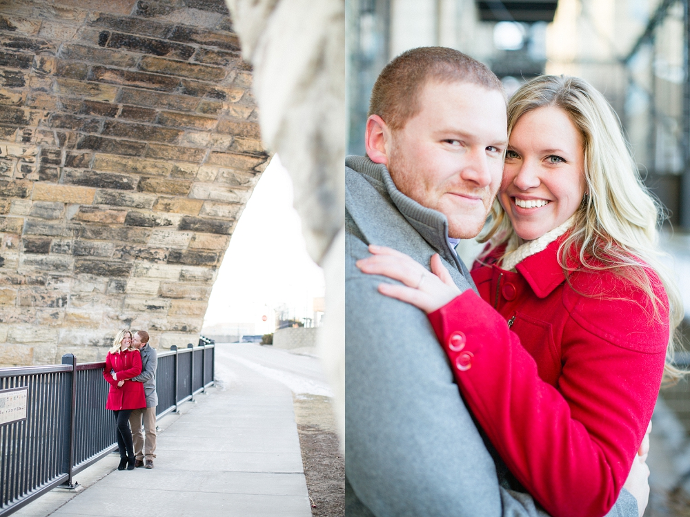 Rochelle Louise Photography, Minneapolis wedding photographer, winter engagement session