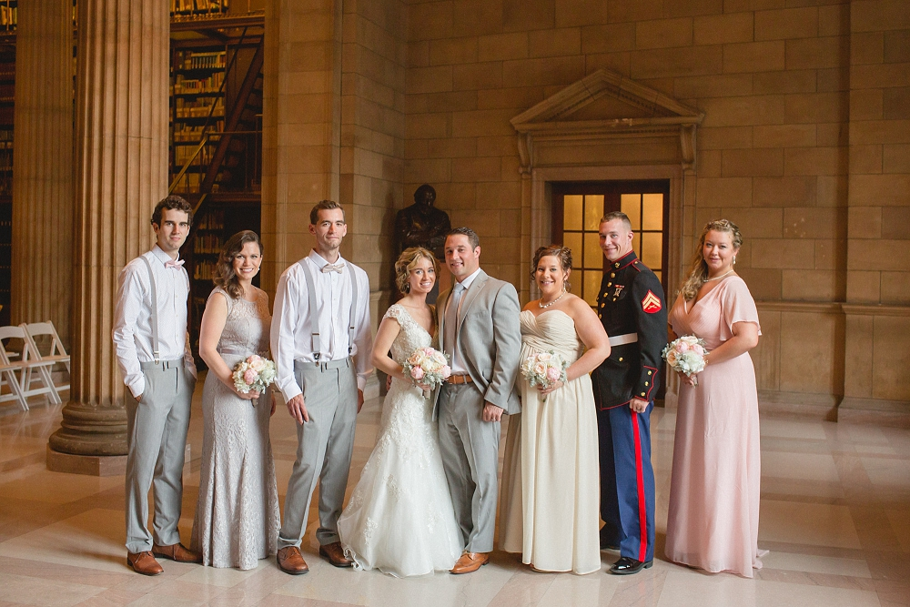james j hill library wedding, bridal party, James J. Hill Library wedding, St. Paul wedding, Minnesota wedding photographer, St. Paul wedding venue, Rochelle Louise Photography, romantic library wedding