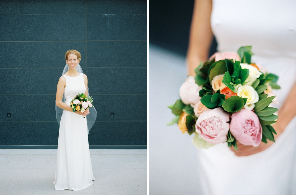 Orchestra Hall wedding, Rochelle Louise Photography, preppy wedding, stripe wedding, pink wedding, colorful wedding, J. Crew wedding dress, navy blue bridesmaids, Minneapolis wedding photographer, Orchestra Hall, Orchestra Hall events, fine art wedding photographer