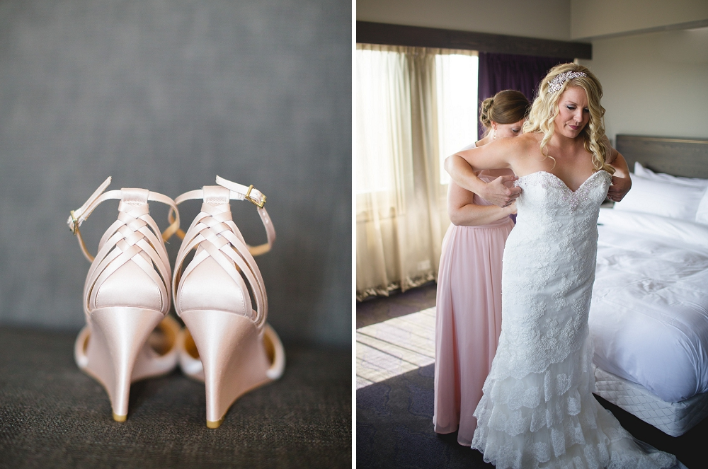 bride getting dressed, wedding shoes, , Rochelle Louise Photography