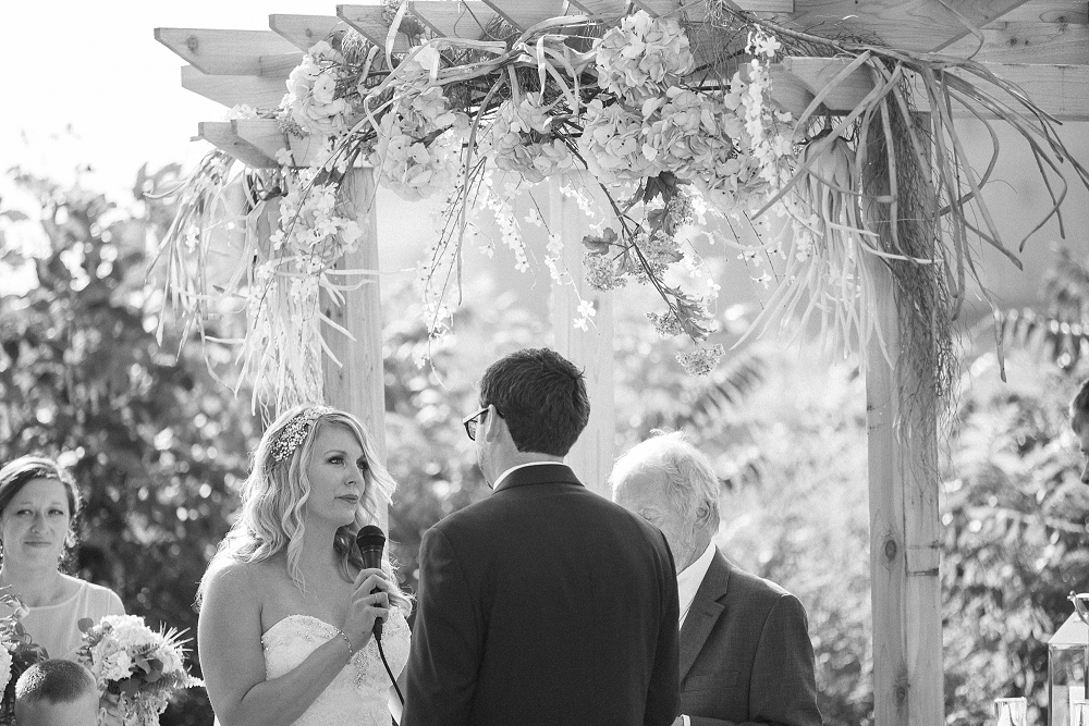 bride saying vows, , Rochelle Louise Photography