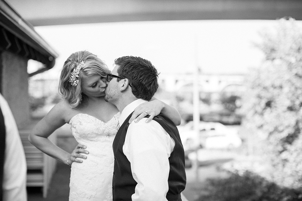 candid bride and groom kiss, , Rochelle Louise Photography
