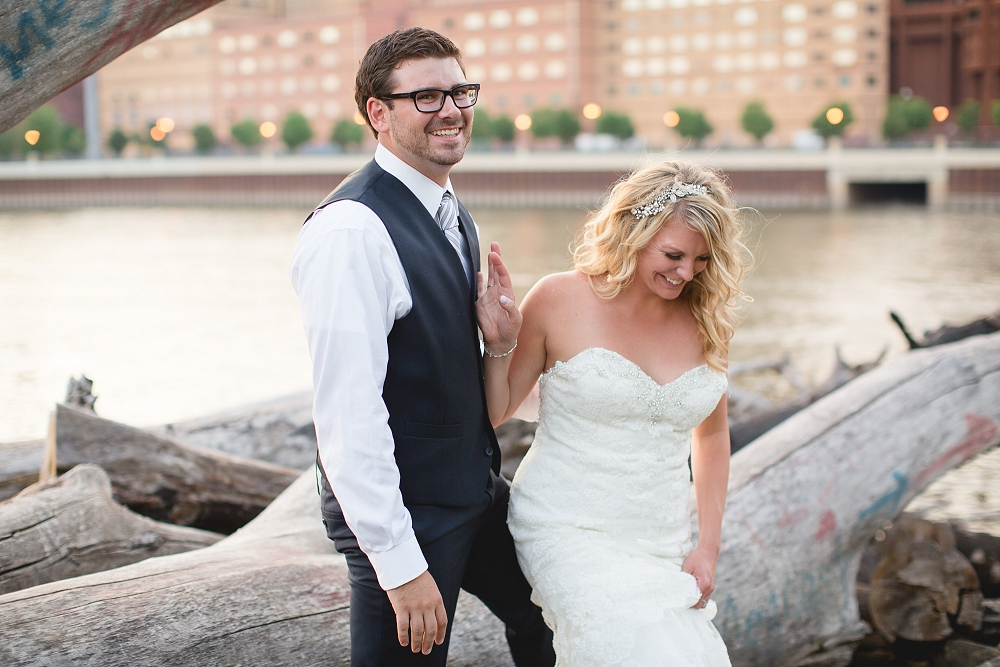 bride and groom laughing, , Rochelle Louise Photography
