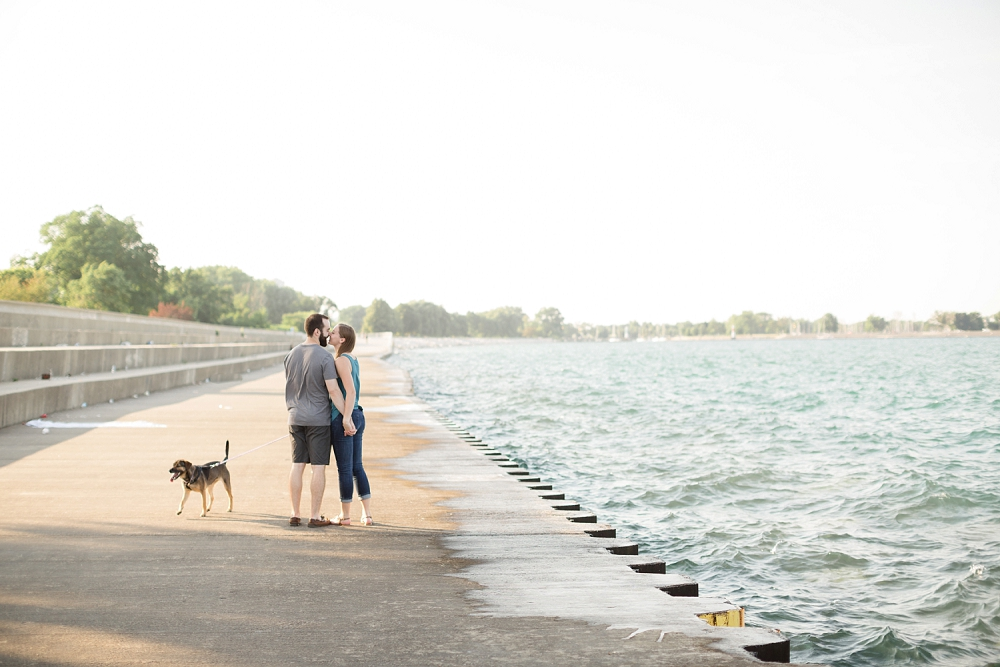 Rochelle Louise Photography, Chicago engagement session, Lincoln Park engagement, Lake Michigan engagement, fine art wedding photographer, Chicago wedding photographer, dog engagement session