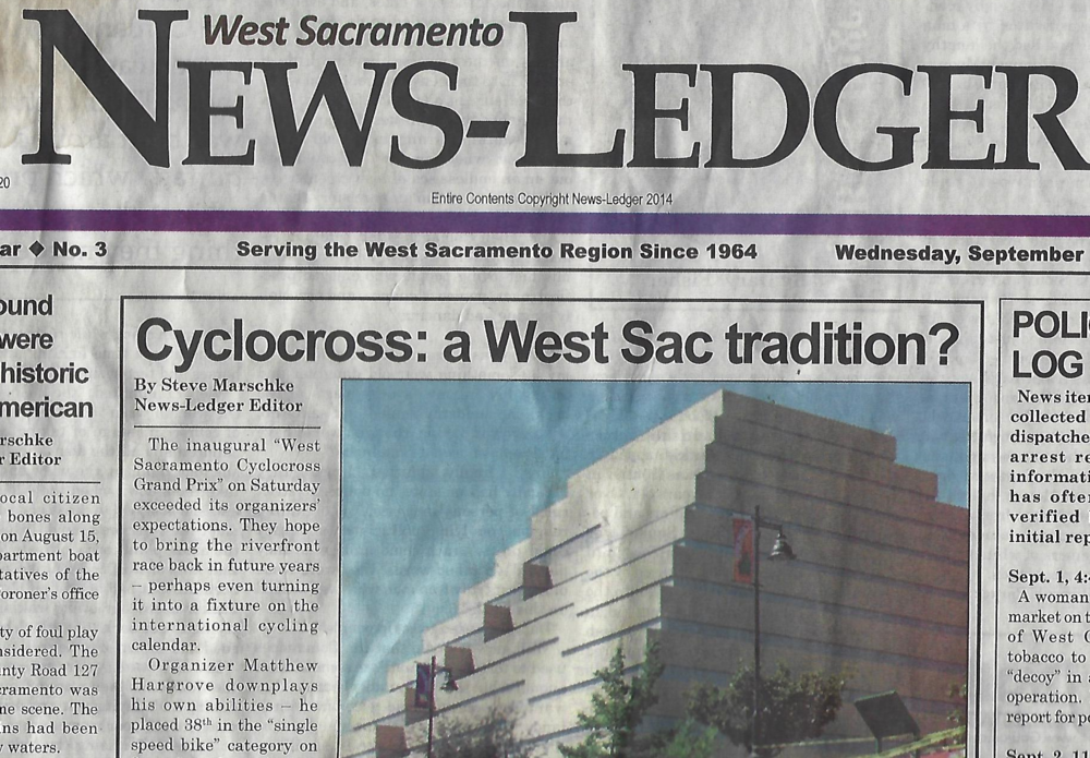 "NEWS STORY: ""Cyclocross: a West Sac tradition?"