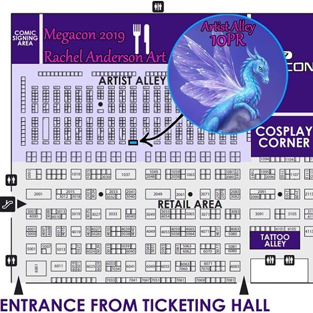 I will be at MegaCon Orlando May 16 - 19 (Thurs-Sun). Artist Alley Endcap # 10PR. See map for my location. If you sign up at my $5 (or higher) Patreon tier or are a current Patron, let me know! I've got FREE goodie bags for all of you 💜 . https://www.patreon.com/twosilverstars . . #megaconorlando #megacon #megacon2019