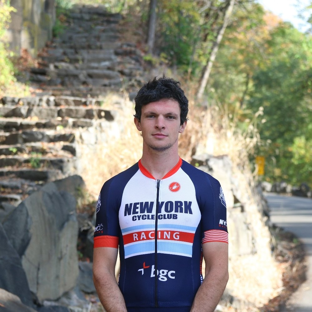 John Beardsley - John got his first road bike in September 2015 after riding the NYC Century on a creaky 1987 Schwinn, and hasn't looked back since. Doing the NYCC A-Classic SIG helped him learn to ride like a grown-up, and he first dipped his toe into racing in late summer 2016, joining what would become the NYCC team shortly thereafter. In the 2017 season, he was thrilled to make it from Cat 5 to Cat 3!