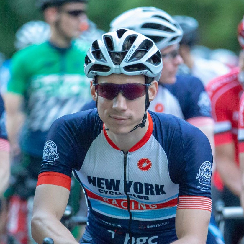 James Gilbert - James is the founder of the NYCC Racing and Development Program, enthusiastically building the team from the ground up. James can be seen in the park every day at 5am, rain or shine, and his training paid off for a recent Cat 3 upgrade.