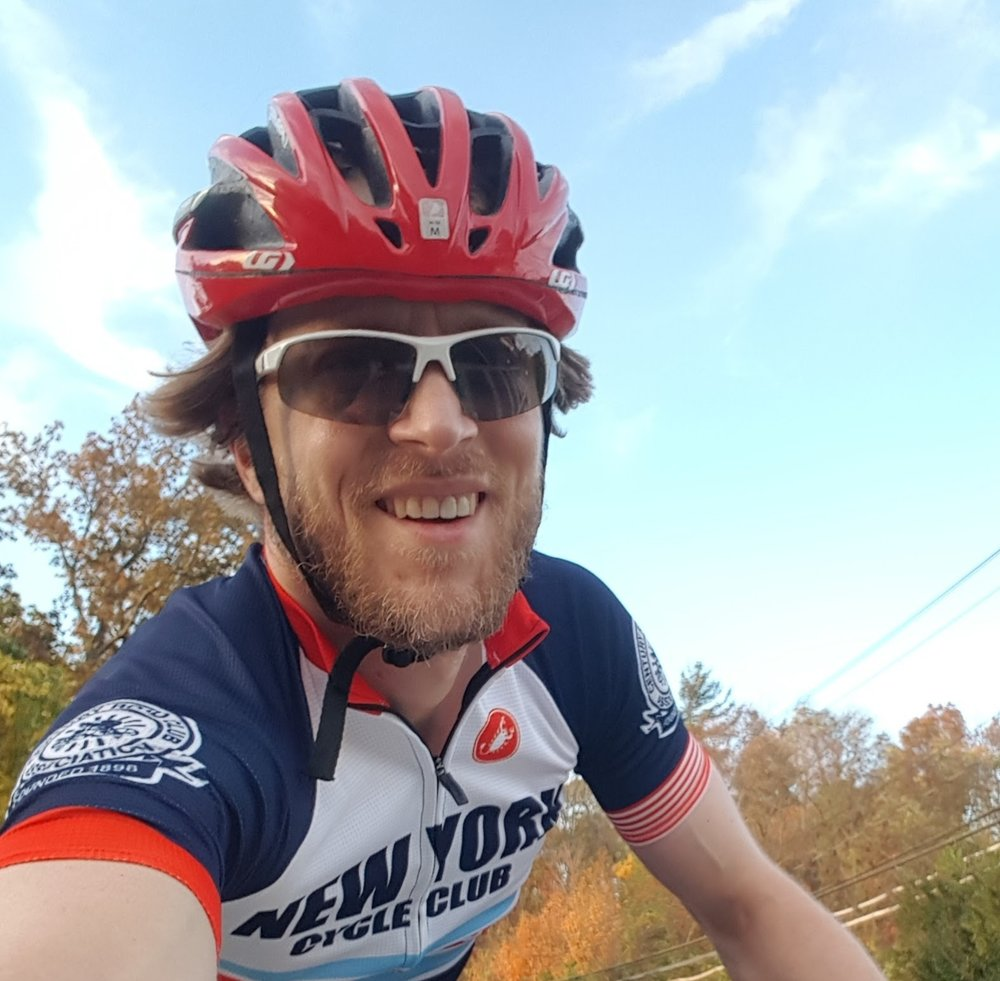 Dieter Egli - Dieter joined the NYCC racing team in 2017. He enjoys time trials and chasing after KOMs. When not racing, you can find him riding his bike to transport pumpkin pies.