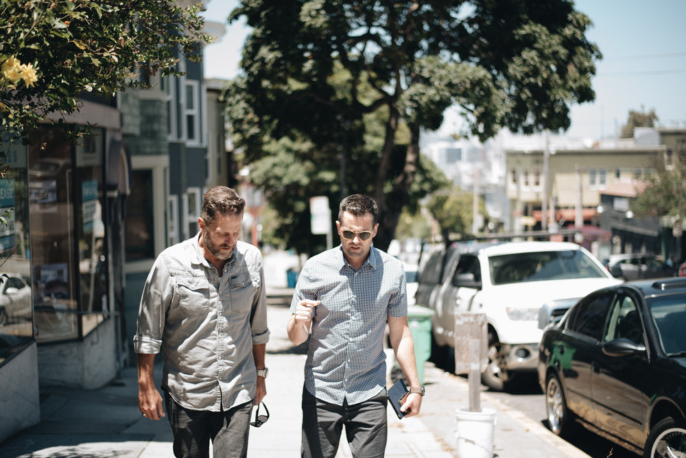 Mark walking the streets of the Potrero Hill district, home to many people at Experience Church