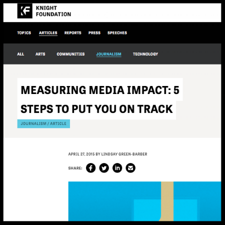 Measuring Media Impact: 5 steps to put you on track