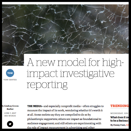 A new model for high-impact investigative reporting