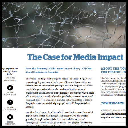 Tow Center White paper: The Case for Media Impact