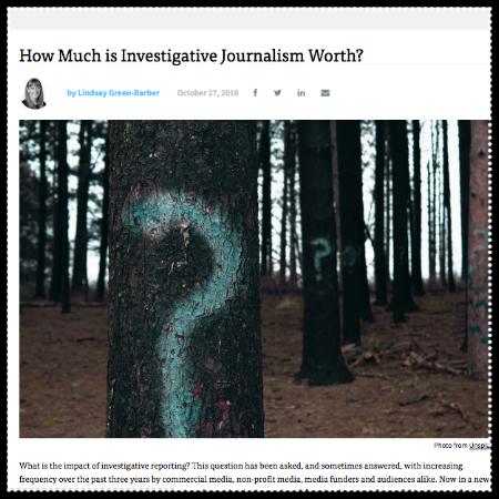 How much is investigative journalism worth?