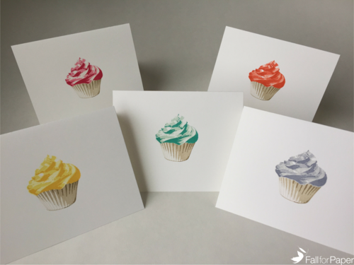 Cupcake Birthday Card Set Fall For Paper