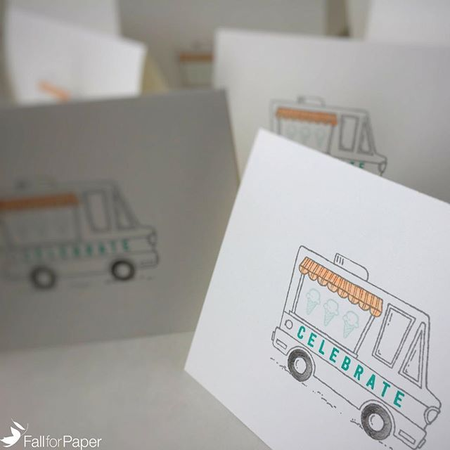 Custom food truck birthday cards for parties! #fallforpaper #handmade #cards #prints #paper #foodtruck #birthday #party #yyc