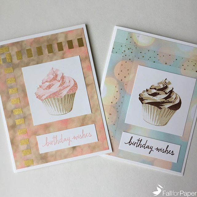 Custom cupcake birthday cards post-assembly! #fallforpaper #handmade #cards #prints #paper #custom #birthday #cupcake #yyc
