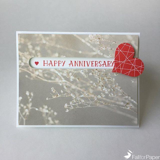Custom anniversary spinner card! #fallforpaper #handmade #cards #prints #paper #custom #anniversary #heart #spinner #yyc