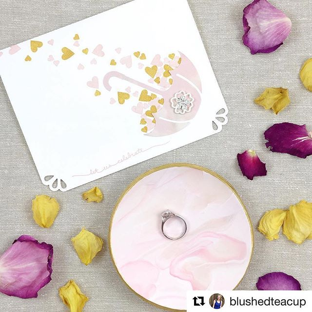 Loved creating this #custom card for a special bride to be! #Repost @blushedteacup (@get_repost) ・・・ Felt so much love at my bridal shower yesterday. ☺️ My friend Kelly gifted me this beautiful ring dish from @marbelladish along with one of her amazing @fallforpaper handmade cards.  #bridetobe #bridalshower #ringdish #marbelladish #fallforpaper #cards #handmade #yyc #blushedteacup