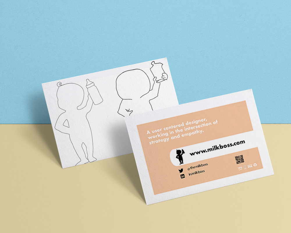 Baby logo design used on a business card