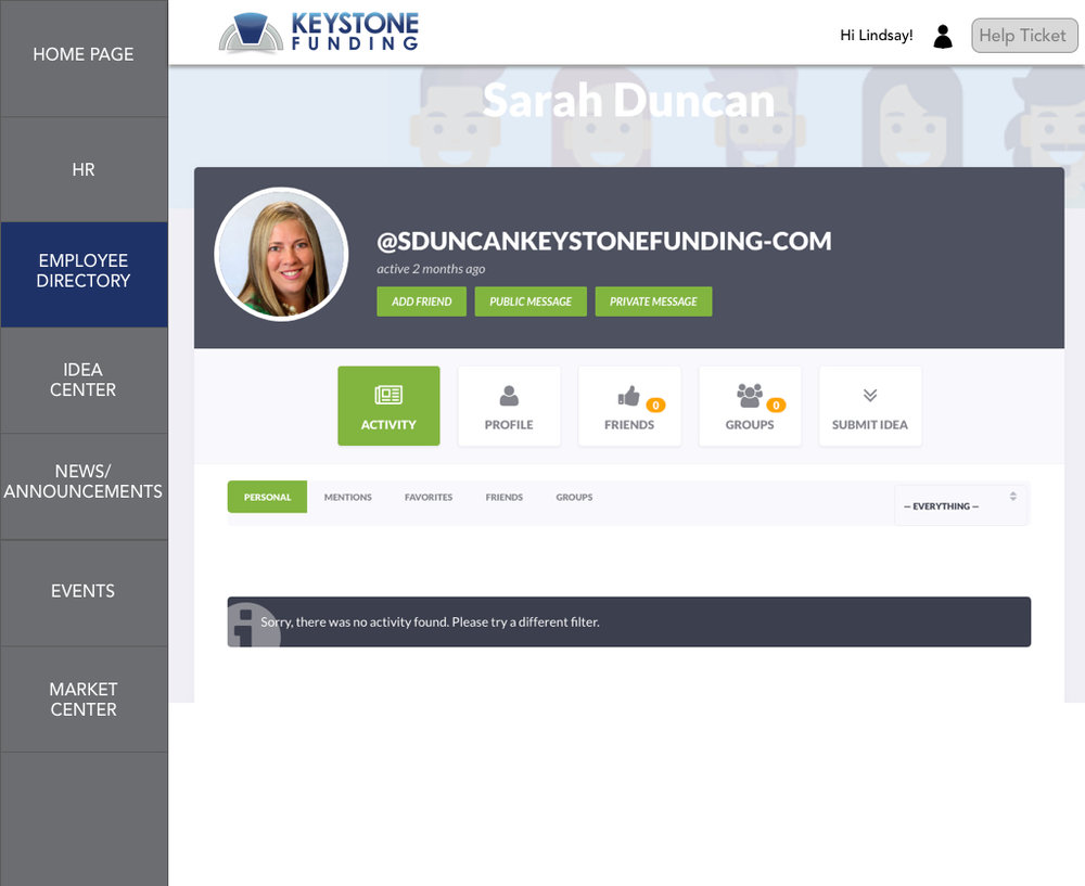 Employee Profile Page
