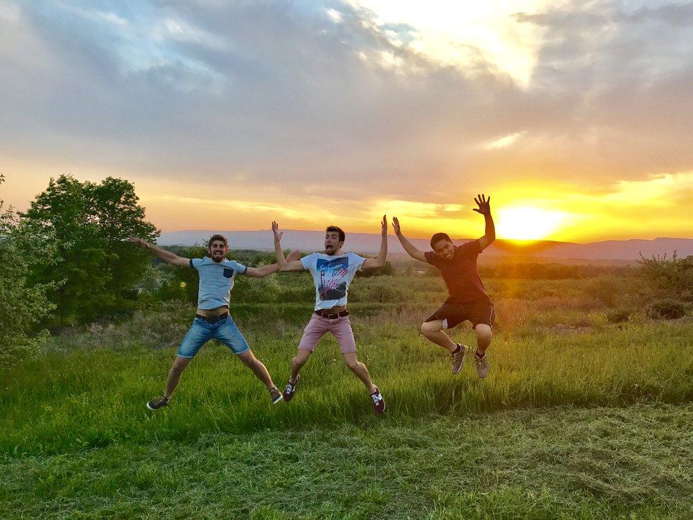wwoofers sunset.jpg