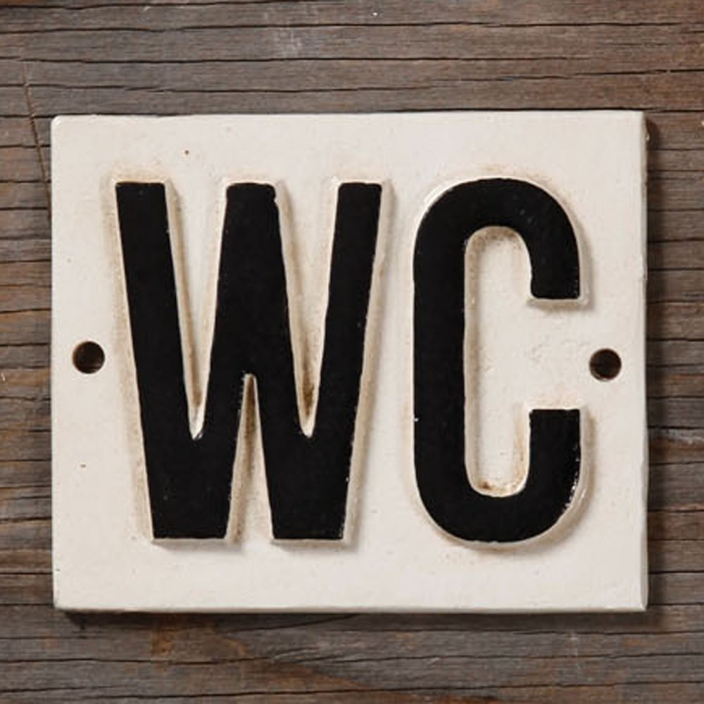 WC Sign from White and Fig