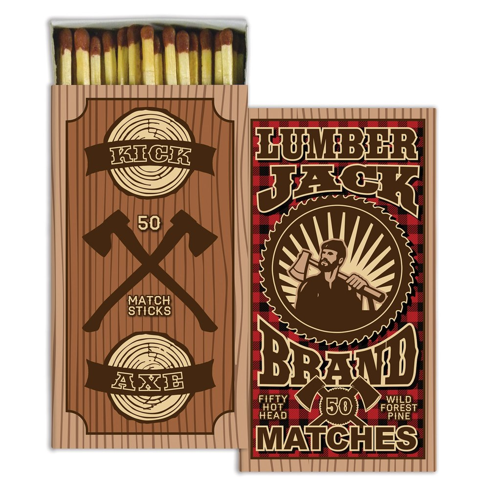 Lumberjack Decorative Matches from White and Fig