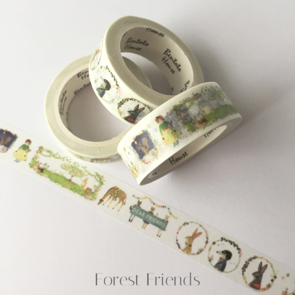 Copy of Forest Friends Washi Tape from White and Fig