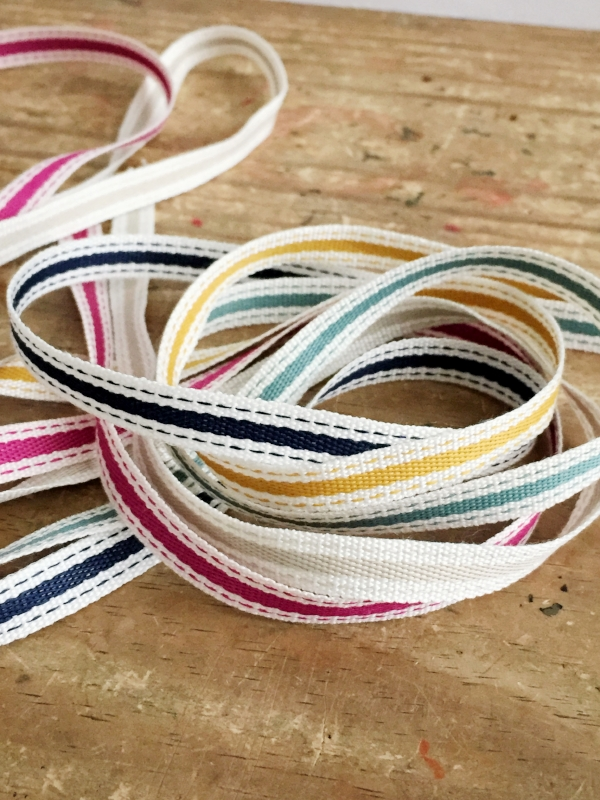 Stitches and Stripes Ribbon Set from White and Fig