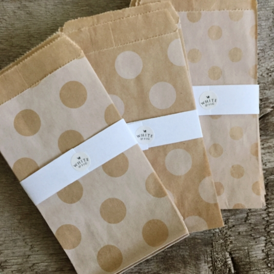 Kraft Paper Gift Bags from White and Fig