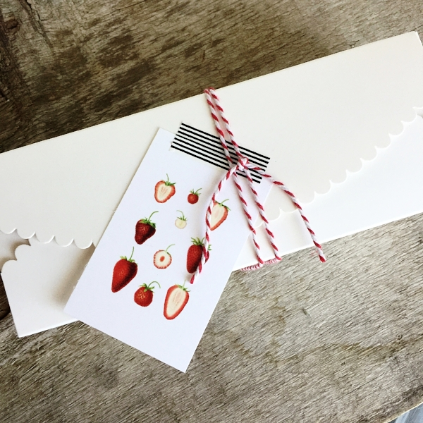 Scallop Gift Box in White from White and Fig