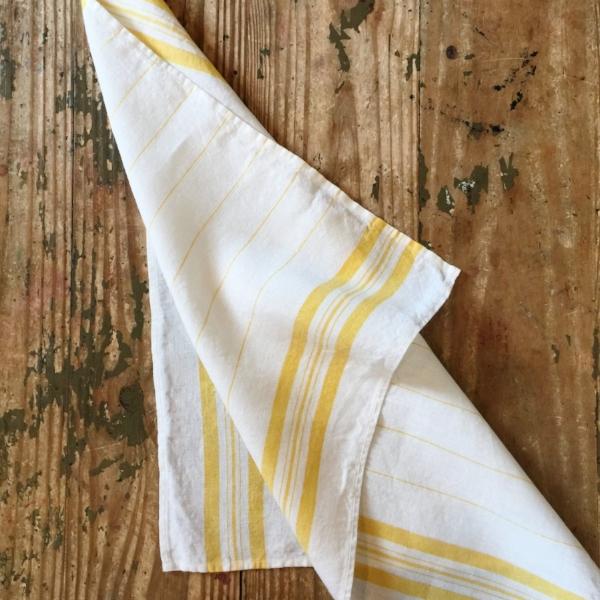 Irish Linen Handmade Kitchen Towel from White and Fig