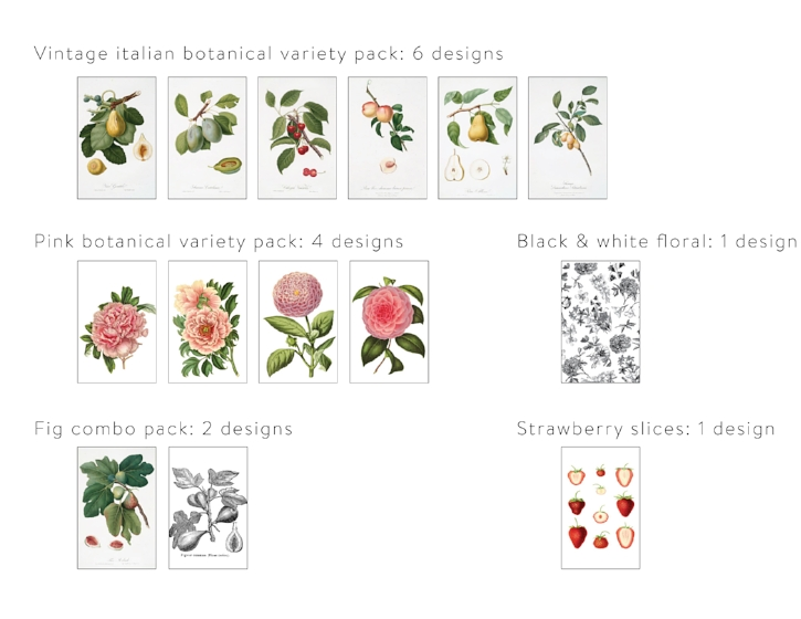 Mini Gifting Card Sets from White and Fig