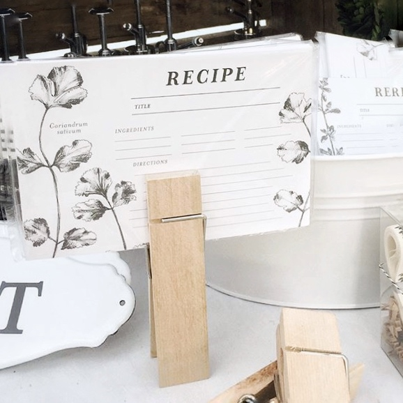 Recipe Cards from White and Fig