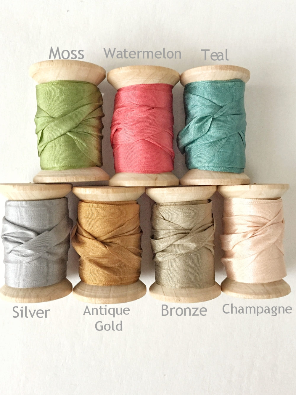 Silk Ribbons from White and Fig