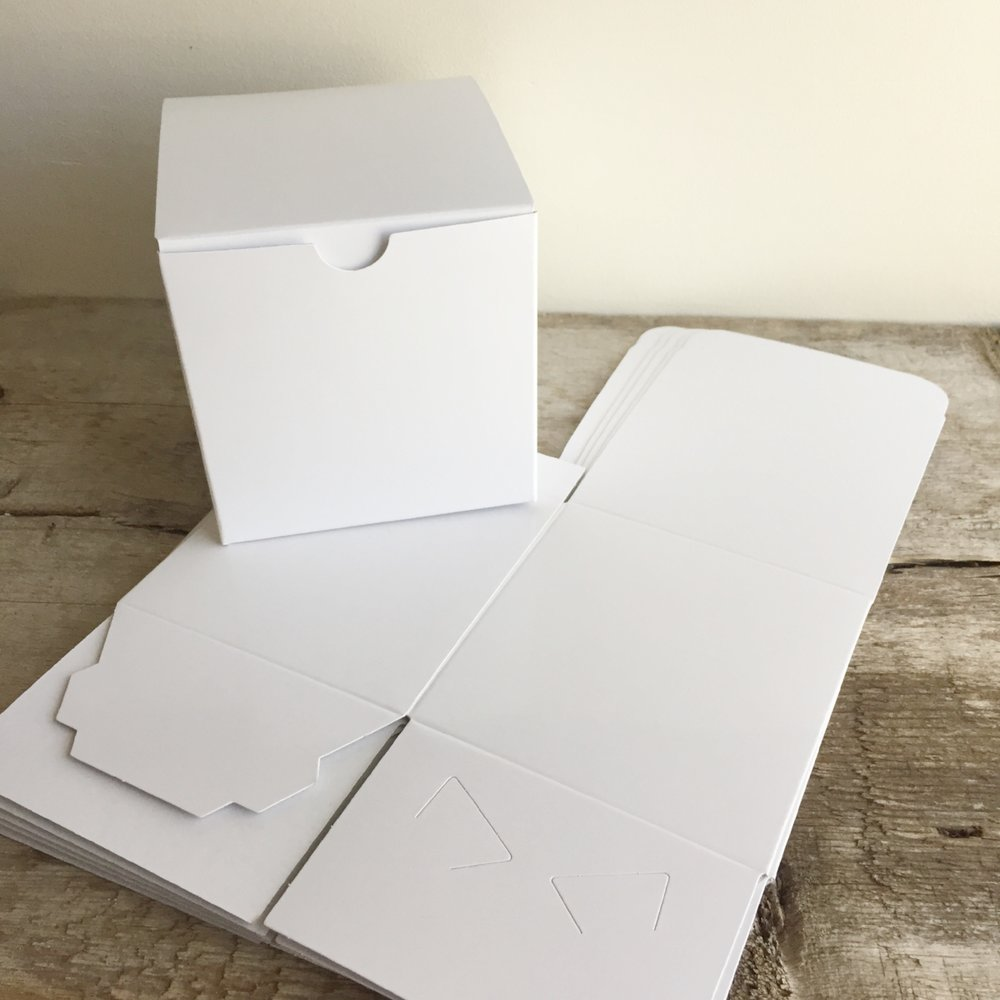 Square Gift Box from White and Fig