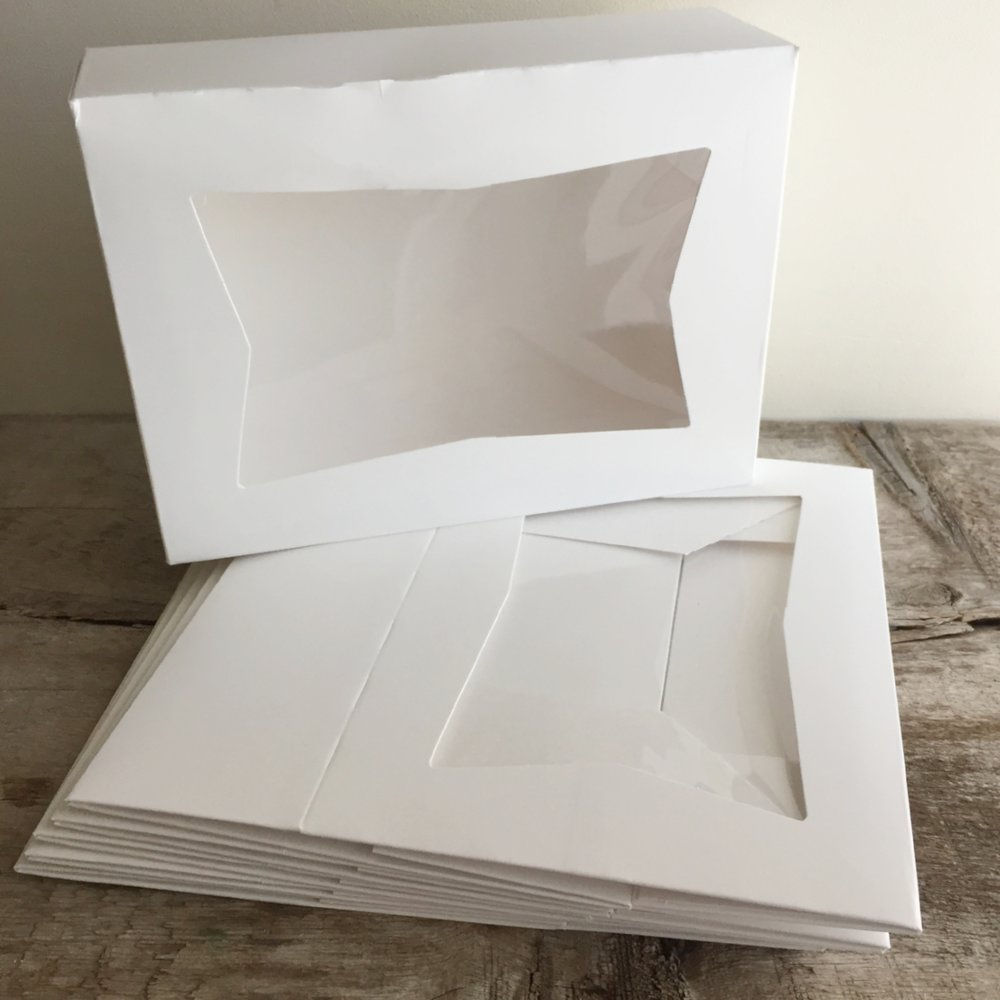Clear Top Box from White and Fig