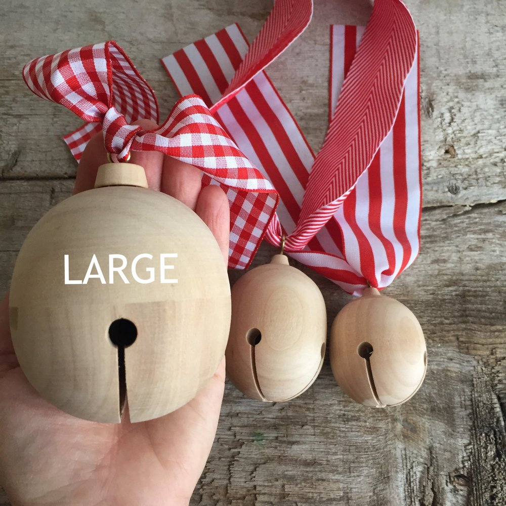 Wood Jingle Bell from White and Fig