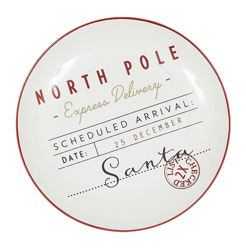 Santa Plate from White and Fig