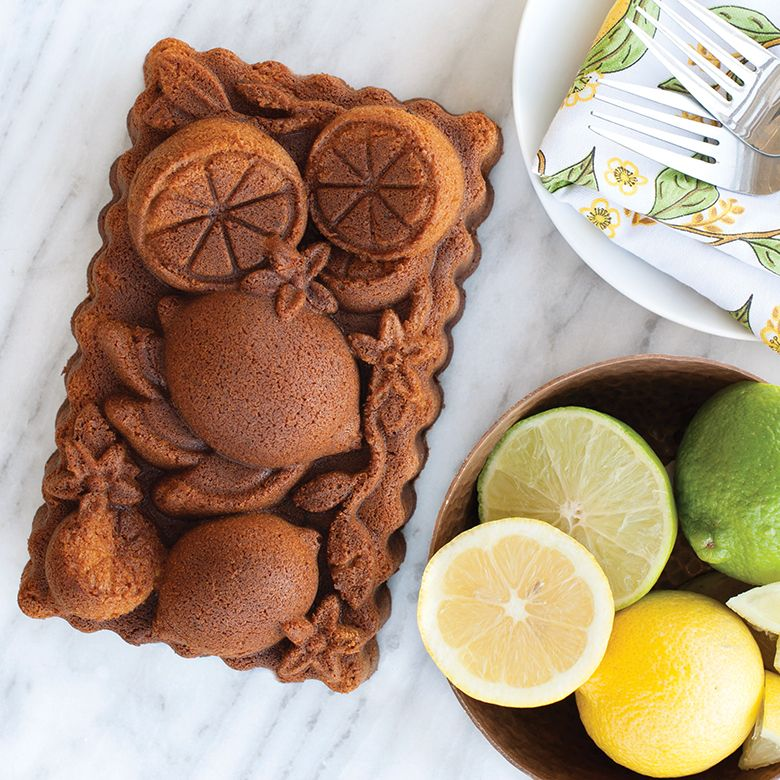 Nordicware Citrus Blossom Loaf Pan by White and Fig