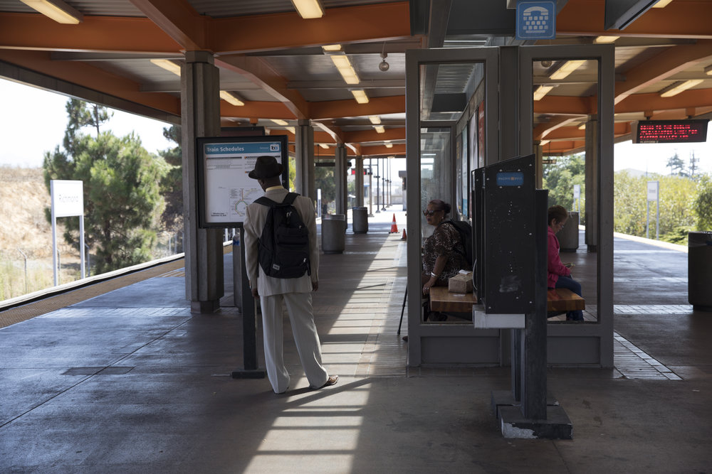 Passengers wait for trains at the Richmond Bay Area Rapid Transit station in Richmond, Calif., on Wednesday, Sept. 19, 2018. BART General Manager Grace Crunican recently proposed a new safety plan after several attacks happened on BART in August.