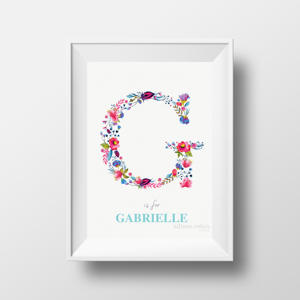 WATERCOLOUR FLORAL INITIAL ART ARS.jpg