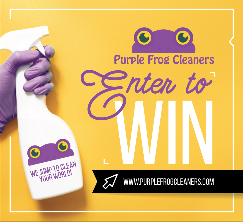 Purple Frog Cleaners Banner