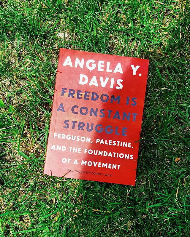 Have you picked up our July book yet? If not, you still have time to read this great book by Angela Y. Davis as she reflects on the importance of Black feminism, intersectionality, and prison abolitionism for today's struggles. #Readblackwords