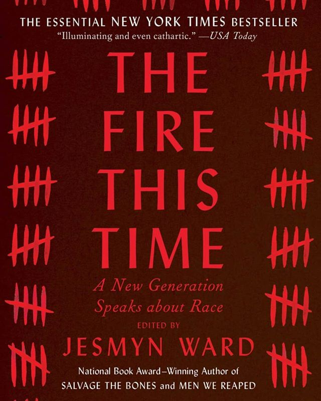 "In August, we will be celebrating our one year anniversary of the Black Literature Collective! 🎉 This time last year, we read James Baldwin's book, ""The Fire Next Time"". This year, we are reading Jesmyn Ward's ""The Fire This Time"". We hope you will join us this month as we dig into this work, but also celebrate a year of us reading black words. . . . ""The Fire This Time: A New Generation Speaks About Race"" is a 2016 essay and poetry collection edited by Jesmyn Ward. The title is an homage to James Baldwin's 1963 text ""The Fire Next Time"". Some contributors of the book include Carol Anderson, Jericho Brown, Daniel Jose Older, Emily Raboteau, Claudia Rankine, Clint Smith, Natasha Trethewey, Wendy S. Walters, Isabel Wilkerson, and Kevin Young, who reflect in three parts that shine a light on the darkest corners of our history, wrestle with our current predicament, and envision a better future. #Readblackwords"