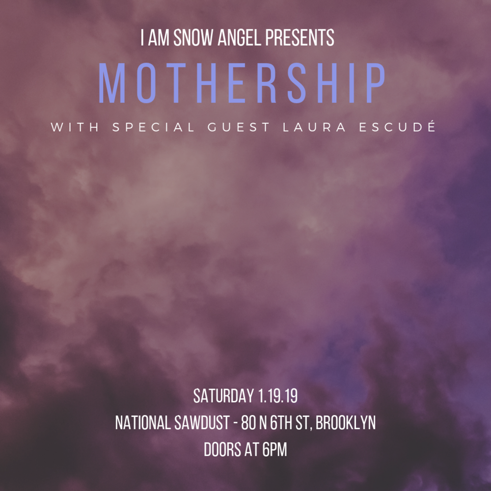 Come experience the forthcoming album MOTHERSHIP in its entirety on January 19, 2019 at National Sawdust in Brooklyn.  Ticket link  HERE .